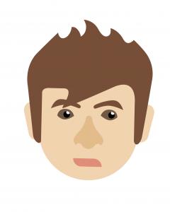 A person's face